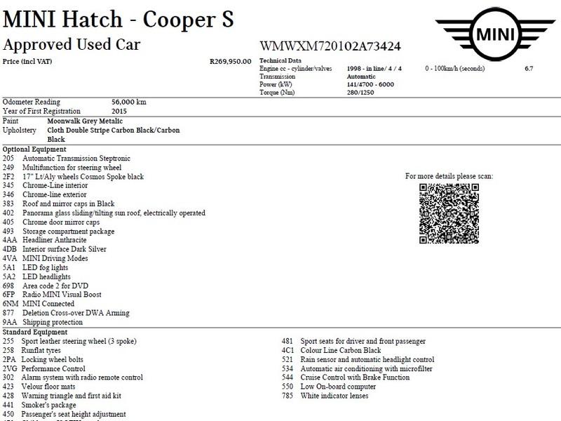 Used MINI Cooper S Auto for sale in Western Cape - Cars co
