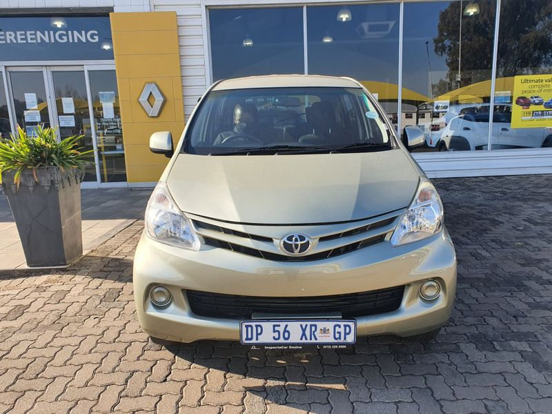 2012 Toyota Avanza 1.3 Sx  Gauteng Vereeniging_0
