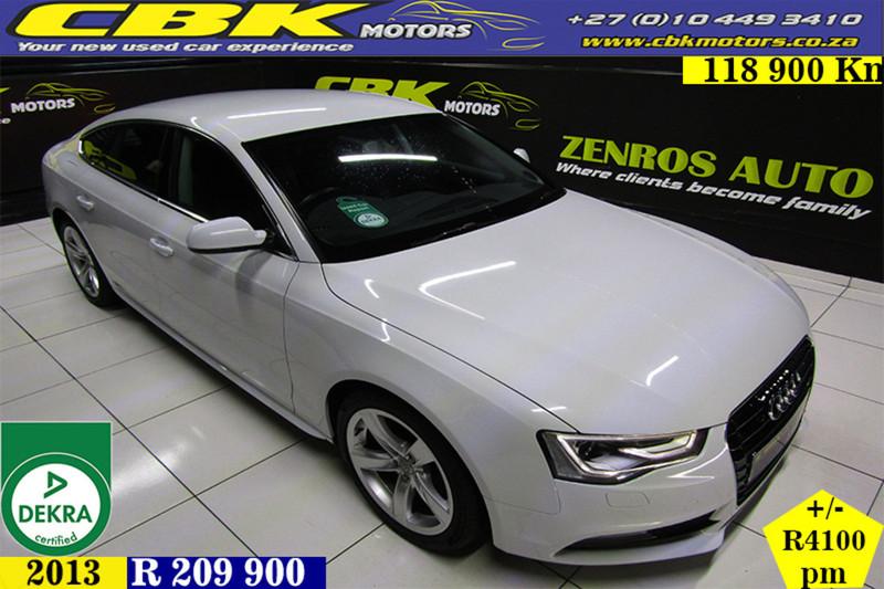 2013 Audi A5 Sprtback 2.0 Tdi Multi  Gauteng Boksburg_0