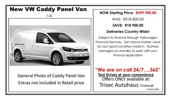 2019 Volkswagen Caddy 1.6i 81KW FC PV Mpumalanga Secunda_0