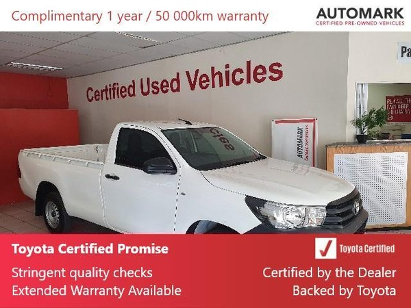2019 Toyota Hilux 2.4 GD AC Single Cab Bakkie Gauteng Springs_0