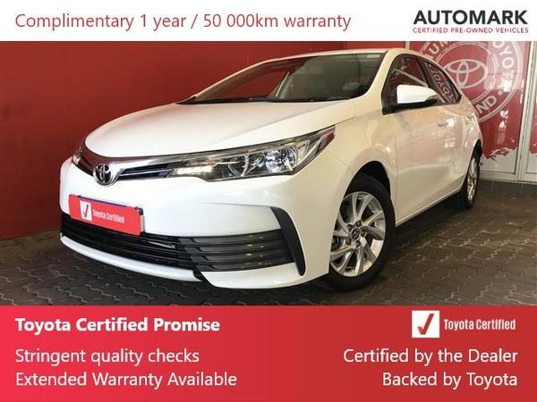 2019 Toyota Corolla 1.6 Prestige CVT Gauteng Roodepoort_0