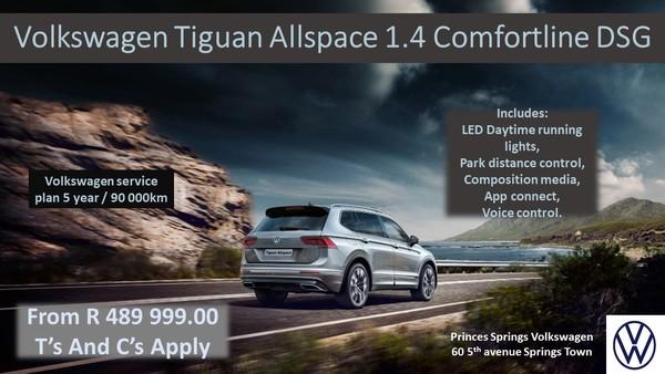 2019 Volkswagen Tiguan AllSpace 1.4 TSI CLINE DSG 110KW Gauteng Springs_0