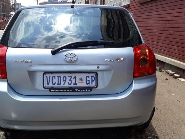 2009 Toyota RunX 140i Rs  Gauteng Jeppestown_0