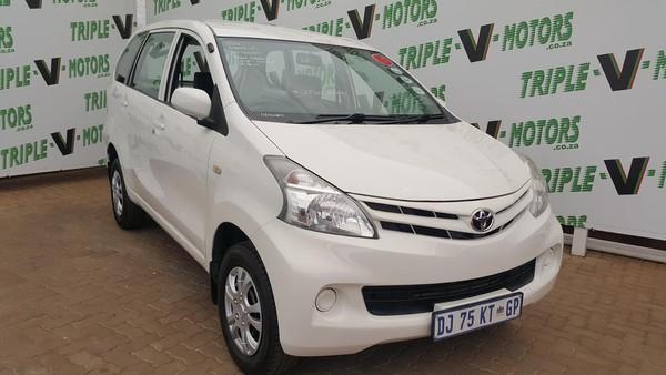 2012 Toyota Avanza 1.3 S Fc Pv  Gauteng Pretoria_0