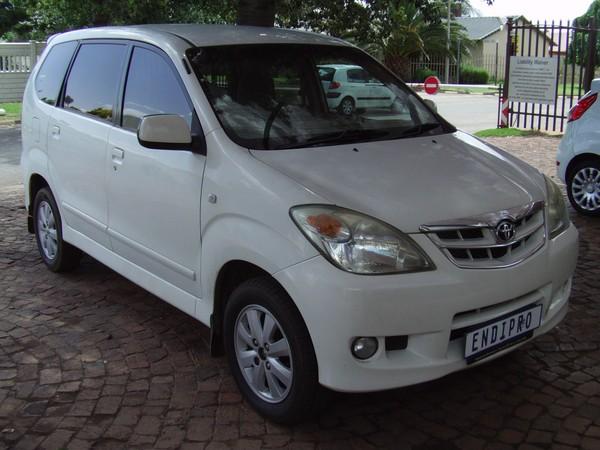2009 Toyota Avanza 1.5 Tx  Gauteng Brakpan_0