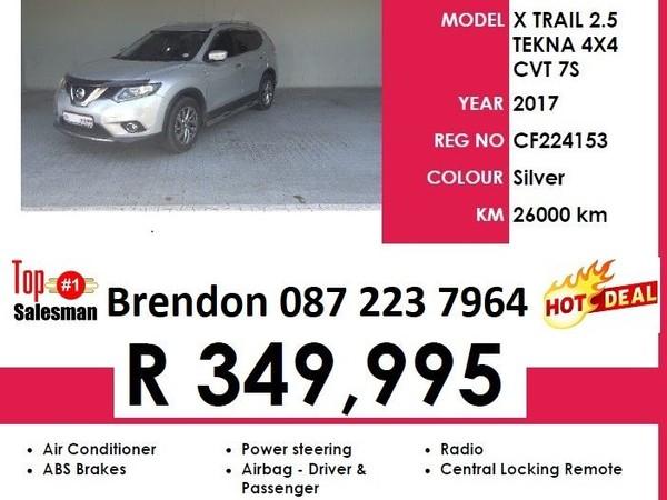 2017 Nissan X-Trail 2.5 Tekna 4x4 CVT  Western Cape Goodwood_0