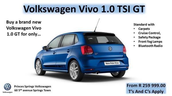 2020 Volkswagen Polo Vivo 1.0 TSI GT 5-Door Gauteng Springs_0