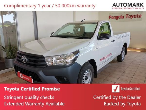 2020 Toyota Hilux 2.0 VVTi AC Single Cab Bakkie Kwazulu Natal Pongola_0
