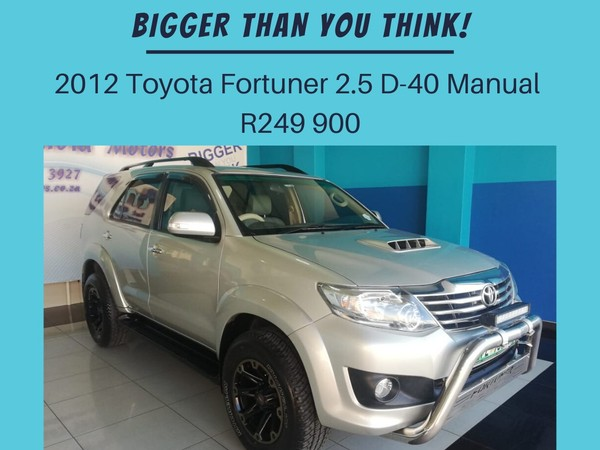 2012 Toyota Fortuner 2.5d-4d Rb  North West Province Klerksdorp_0