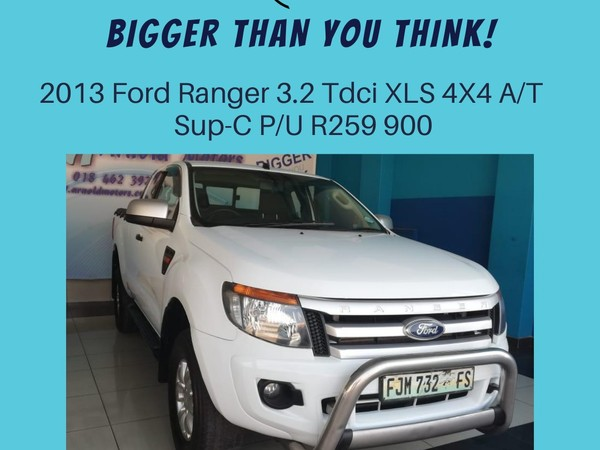 2013 Ford Ranger 3.2tdci Xls 4x4 At Pu Supcab  North West Province Klerksdorp_0
