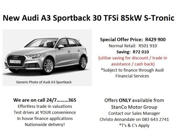 2020 Audi A3 1.0 TFSI STRONIC Mpumalanga Standerton_0
