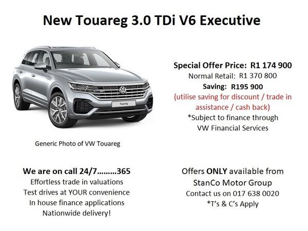 2020 Volkswagen Touareg 3.0 TDI V6 Executive Mpumalanga Standerton_0