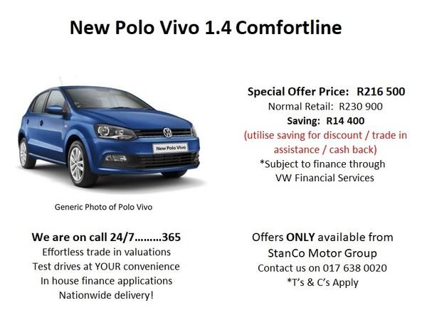 2020 Volkswagen Polo Vivo 1.4 Comfortline 5-Door Mpumalanga Standerton_0