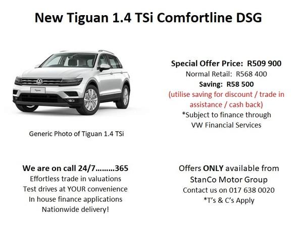 2020 Volkswagen Tiguan 1.4 TSI Comfortline DSG 110KW Mpumalanga Standerton_0