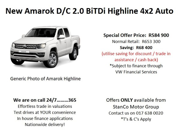 2020 Volkswagen Amarok 2.0 BiTDi Highline 132kW Auto Double Cab Bakkie Mpumalanga Trichardt_0