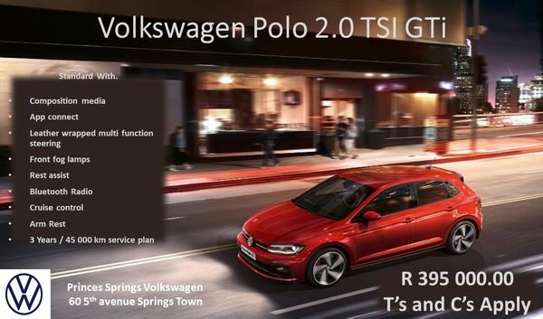 2020 Volkswagen Polo 2.0 GTI DSG 147kW Gauteng Springs_0