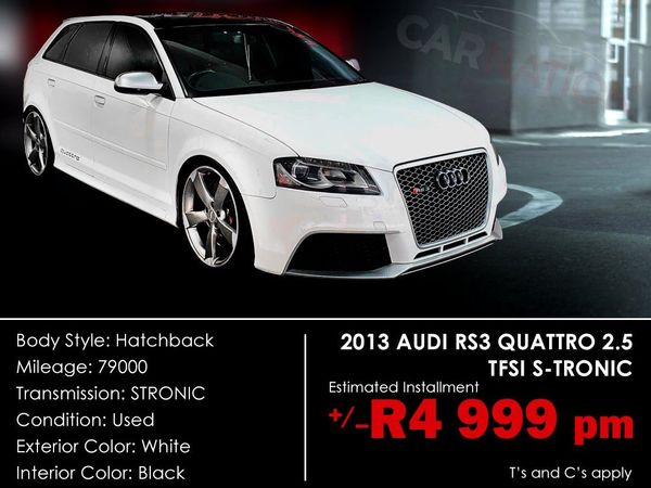 2013 Audi Rs3 Sportback Stronic  Western Cape Goodwood_0