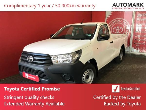 2020 Toyota Hilux 2.0 VVT Single Cab Bakkie Gauteng Roodepoort_0