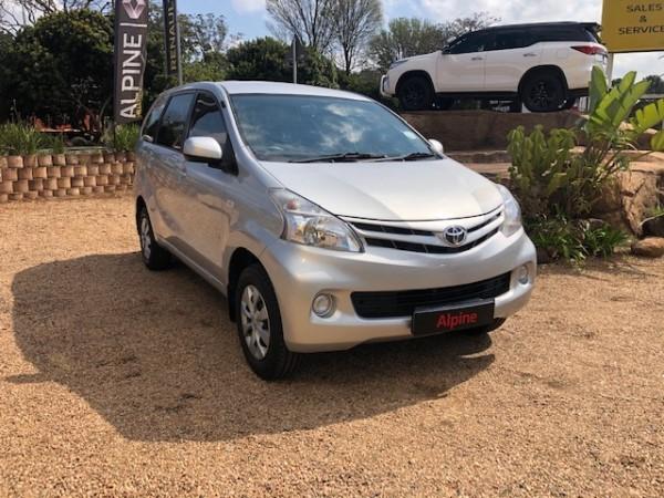 2012 Toyota Avanza 1.5 Sx  Kwazulu Natal_0