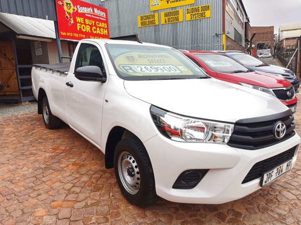 2018 Toyota Hilux 2.0 VVTi AC Single Cab Bakkie Mpumalanga Nelspruit_0