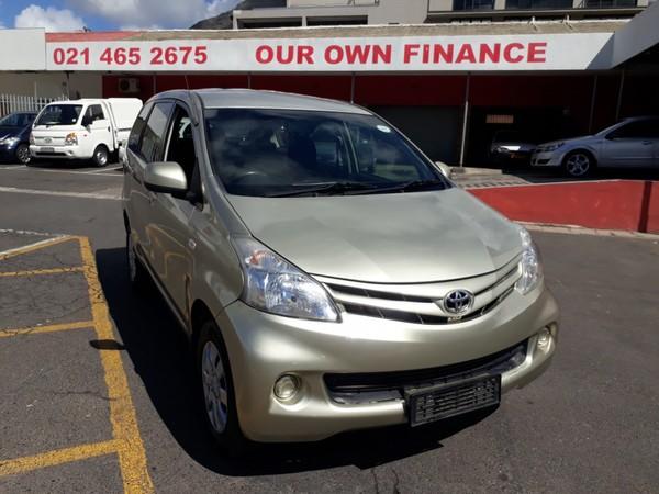 2012 Toyota Avanza 1.5 Sx At  Western Cape Cape Town_0