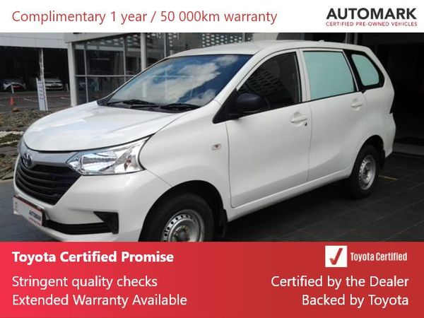 2019 Toyota Avanza 1.3 FC PV Gauteng Nigel_0