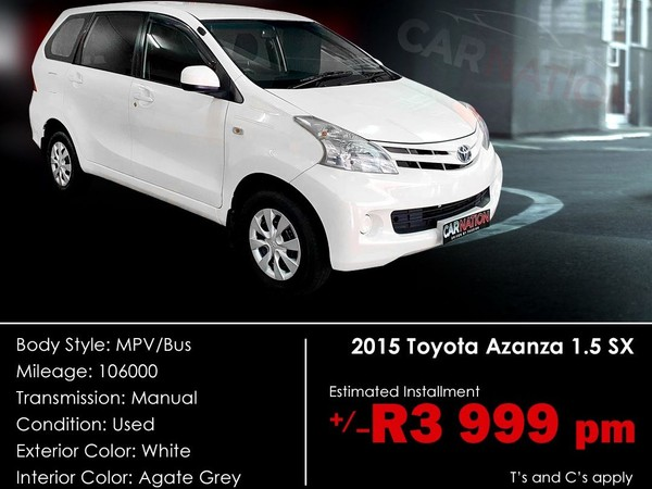 2015 Toyota Avanza 1.5 SX Western Cape Goodwood_0