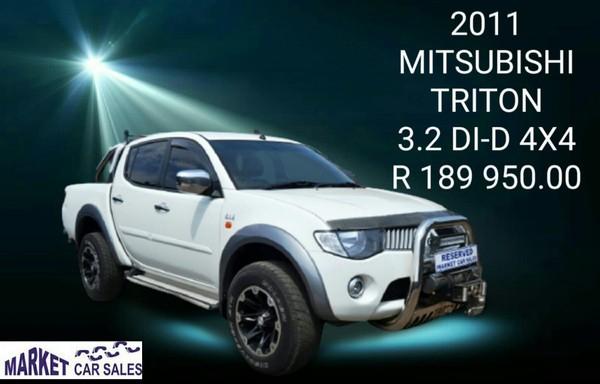 2011 Mitsubishi Triton 3.2 Di-d 4x4 Pu Dc  Gauteng Johannesburg_0