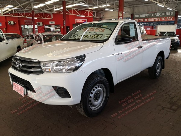 2016 Toyota Hilux 2.4 GD-6 SRX 4X4 Single Cab Bakkie Western Cape Goodwood_0