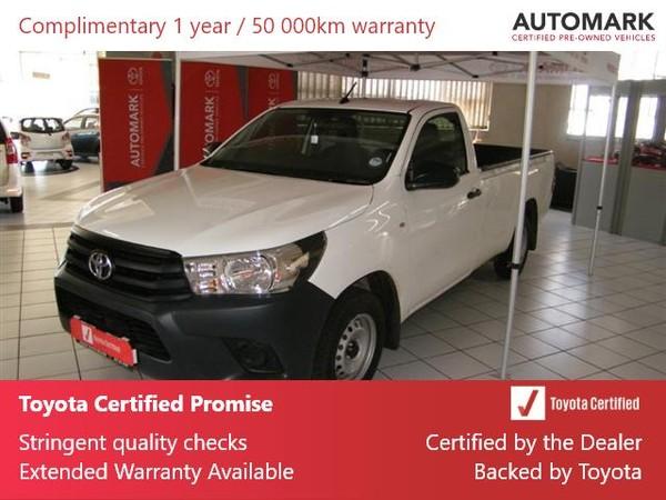 2020 Toyota Hilux 2.0 VVTi AC Single Cab Bakkie Free State Welkom_0