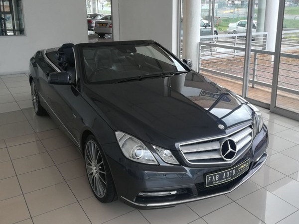 2013 Mercedes-Benz E-Class E250 CGI CABRIOLET BE AMG Gauteng Midrand_0