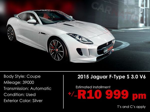 2015 Jaguar F-TYPE S 3.0 V6 Coupe Western Cape Goodwood_0