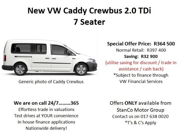 2021 Volkswagen Caddy Crewbus 2.0 TDI Mpumalanga Standerton_0