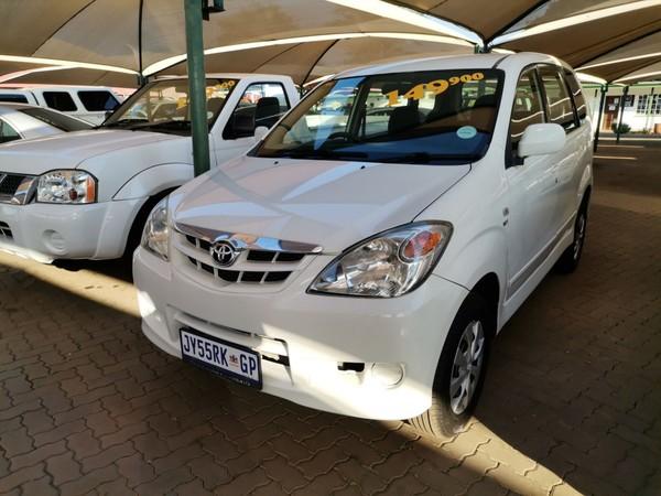 2011 Toyota Avanza 1.5 Sx  Gauteng Pretoria_0