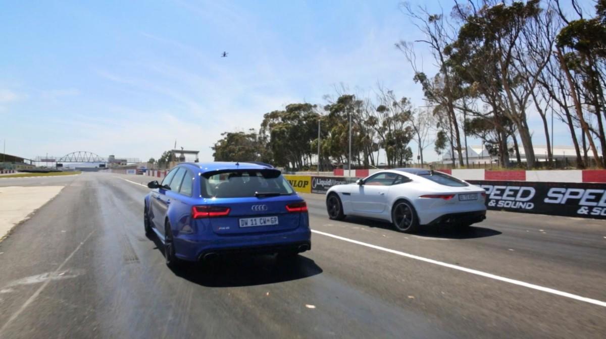 Drag Race: Audi RS6 Avant vs Jaguar F-Type V8 AWD - Cars.co.za