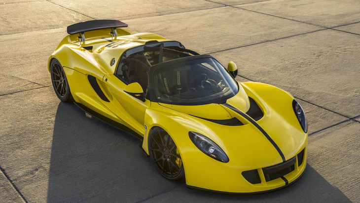 Hennessey Venom GT Spyder Breaks Convertible Speed Record (Video ...