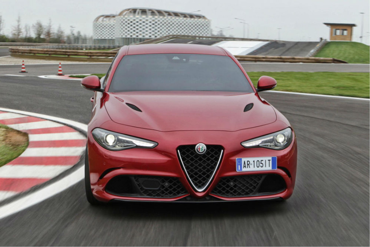 Updated Alfa Romeo Giulia Quadrifoglio 2016 First Drive Rear End The Business Class Sedan Is Scheduled To Arrive In South Africa January 2017 It Will Be Headed Up By Two Versions Of Bmw