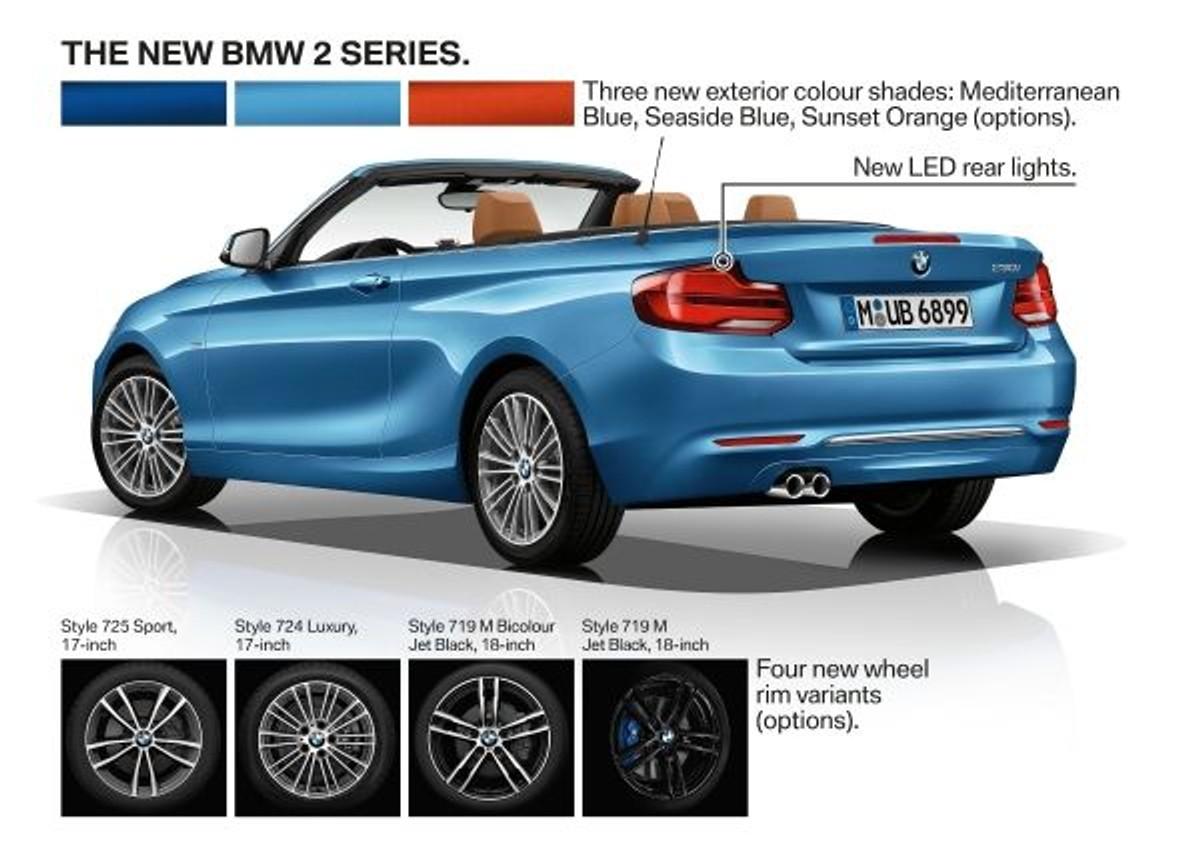 Bmw 2 series colours