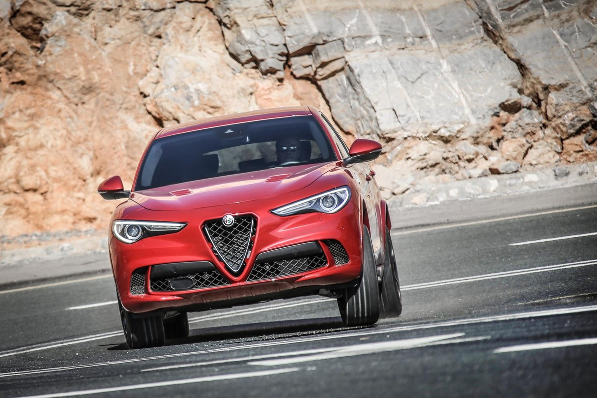 Alfa Romeo Stelvio Quadrifoglio 2017 International Launch Review Rear End Given The Recent Unveiling Of Lamborghini Urus Needs To Make Most Claim That Is Fastest Suv In