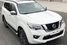 Nissan Terra 4WD Front Three Quarters Right Side Spy Shot