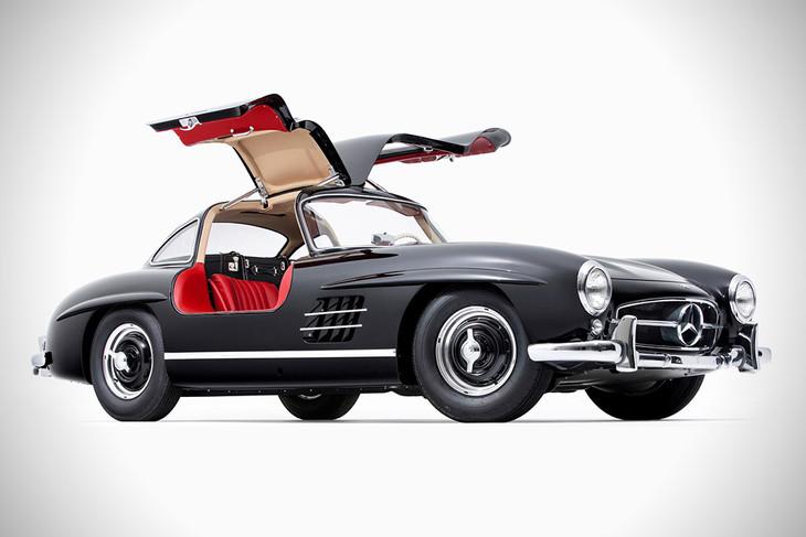 """Poster 19/"""" x 13/"""" Mercedes Benz 300 SL Old Car"""