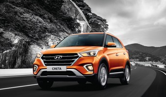 2018 Hyundai Creta Facelift Front Three Quarters Action Shot