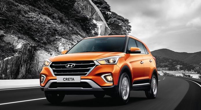 2018 Hyundai Creta Facelift Front Three Quarters Action Shot