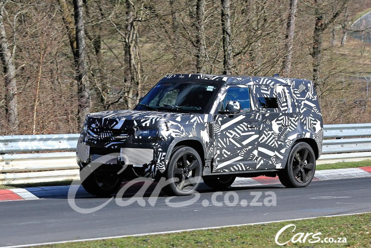 spy shots  2020 land rover defender