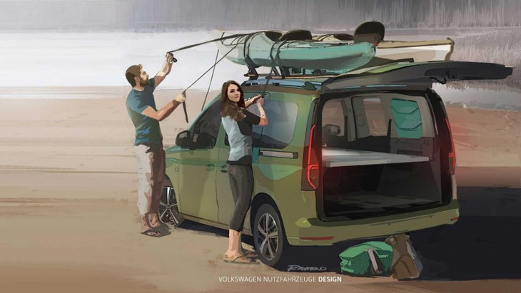 Volkswagen Caddy Mini Camper Teaser