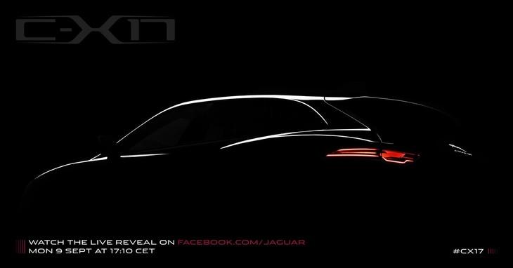 Jaguar CX17 Teaser Image Frankfurt Medium