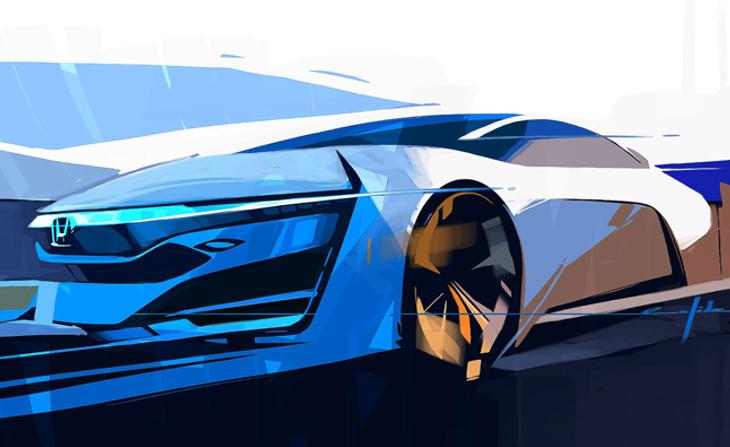 HondaFCEV Concept Teaser Sketch Final