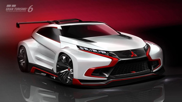 mitsubishi introduces concept xr phev evolution vision gran turismo