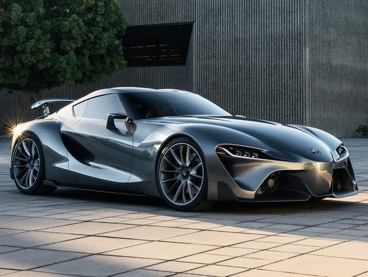 Captivating Toyota FT 1 Sports Car Front